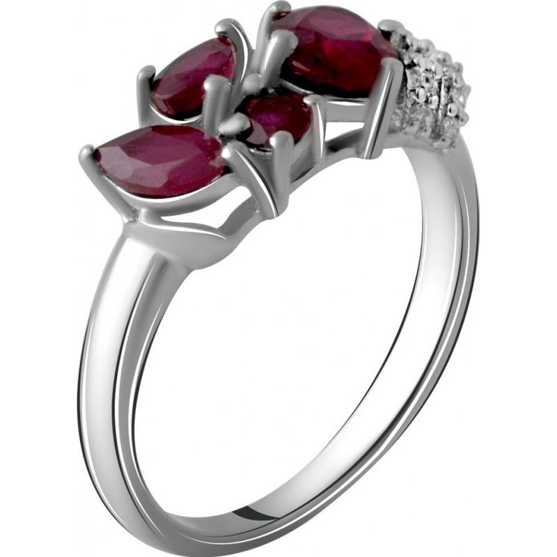Серебряное кольцо SilverBreeze с натуральным рубином 2.004ct (2060079) 18.5 размер