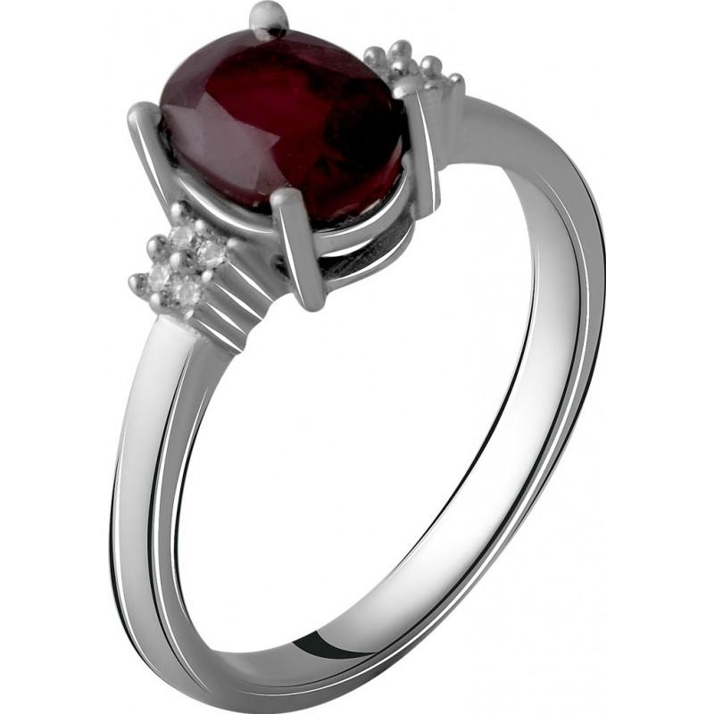Серебряное кольцо SilverBreeze с натуральным рубином 2.003ct (2060055) 17.5 размер