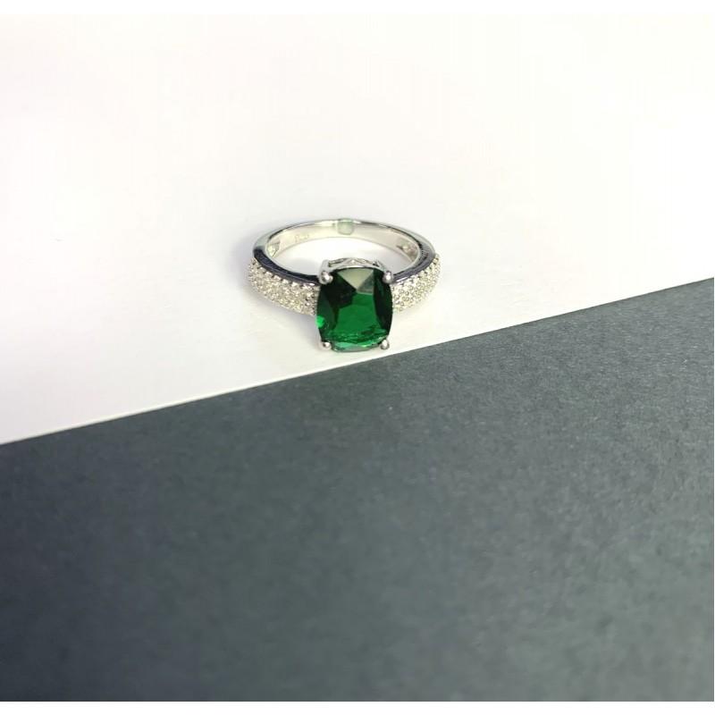 Серебряное кольцо SilverBreeze с изумрудом nano 3.398ct (2059851) 17.5 размер