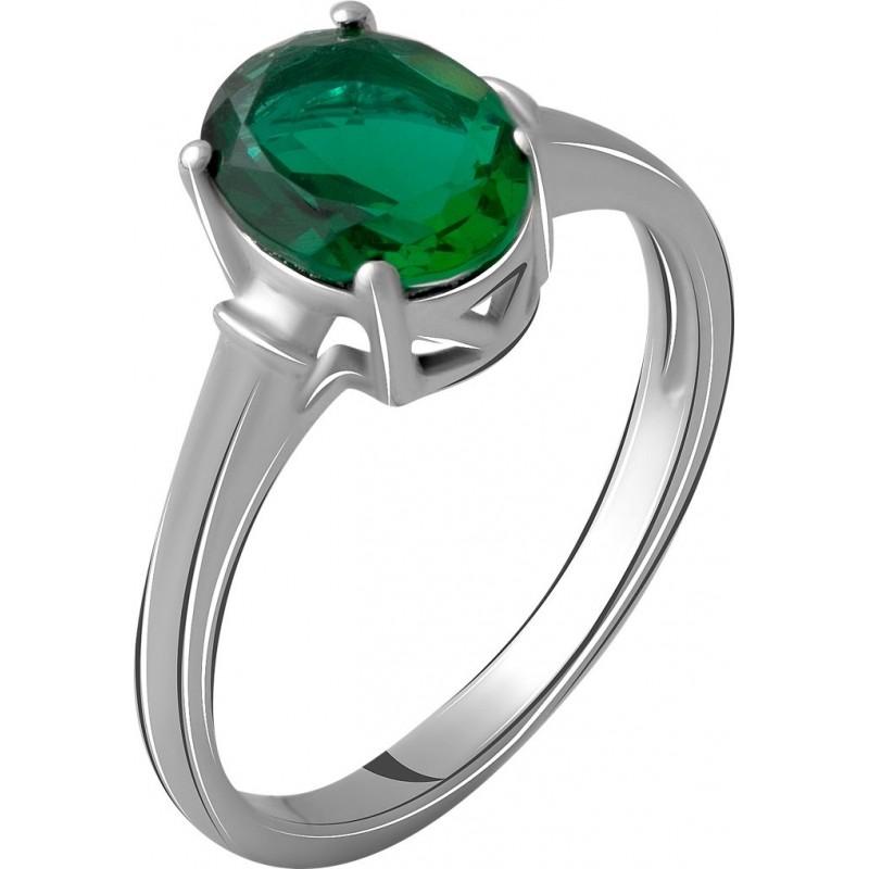 Серебряное кольцо SilverBreeze с изумрудом nano 1.6ct (2059790) 18.5 размер