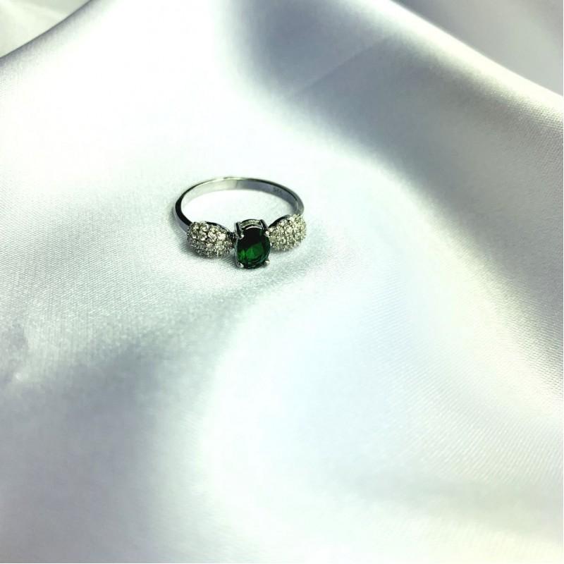 Серебряное кольцо SilverBreeze с изумрудом nano 1.265ct (2059776) 18.5 размер