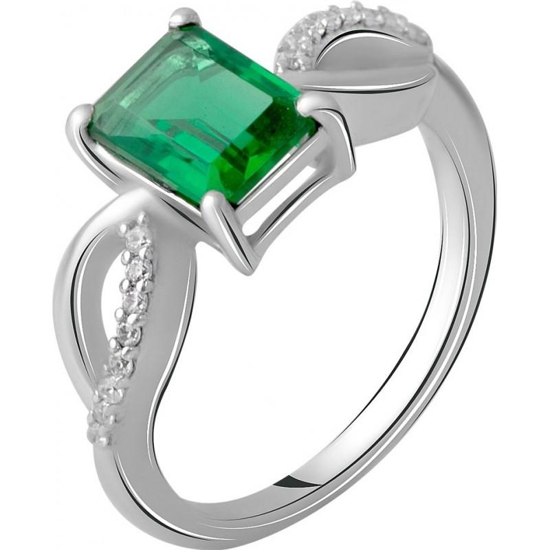 Серебряное кольцо SilverBreeze с изумрудом nano 1.501ct (2059752) 16.5 размер