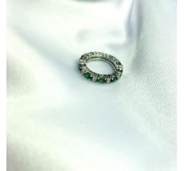 Серебряное кольцо SilverBreeze с изумрудом nano 2.335ct (2059714) 17.5 размер
