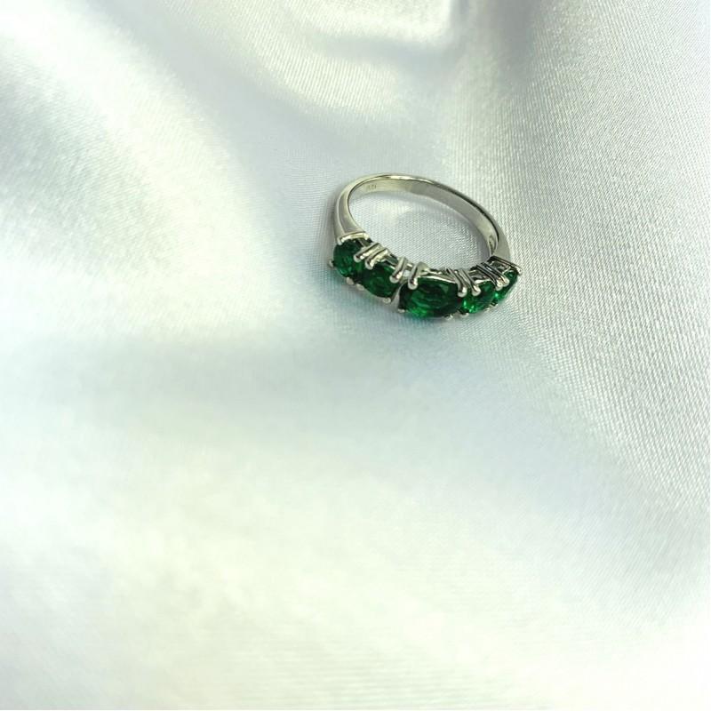 Серебряное кольцо SilverBreeze с изумрудом nano 1.413ct (2059677) 17.5 размер