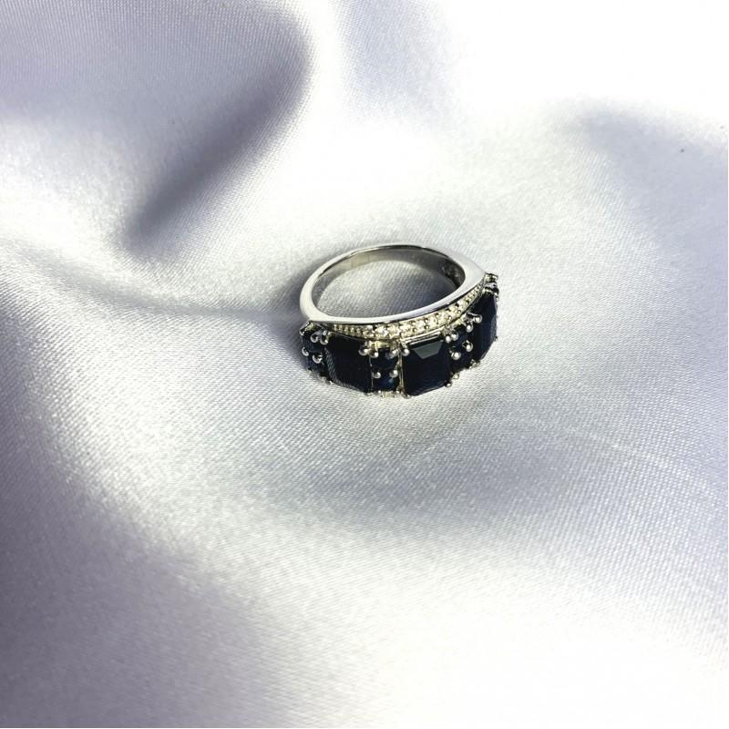 Серебряное кольцо SilverBreeze с натуральным сапфиром 5.22ct (2059479) 17.5 размер