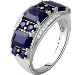 Серебряное кольцо SilverBreeze с натуральным сапфиром 5.22ct (2059479) 18.5 размер