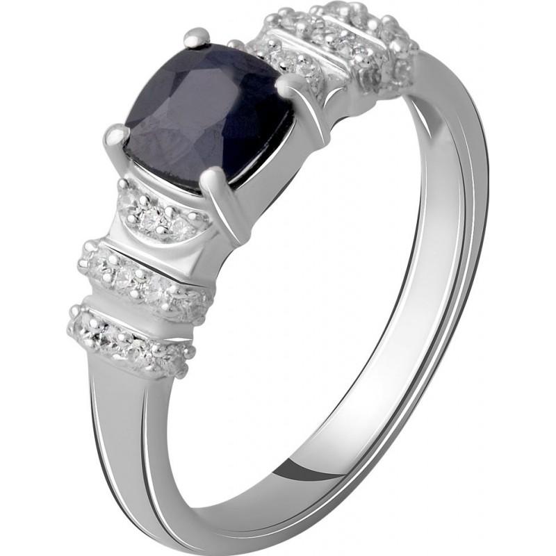 Серебряное кольцо SilverBreeze с натуральным сапфиром 1.618ct (2059455) 18 размер