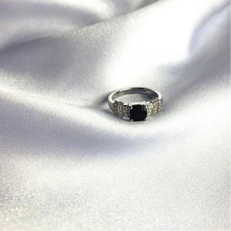 Серебряное кольцо SilverBreeze с натуральным сапфиром 1.618ct (2059455) 19 размер