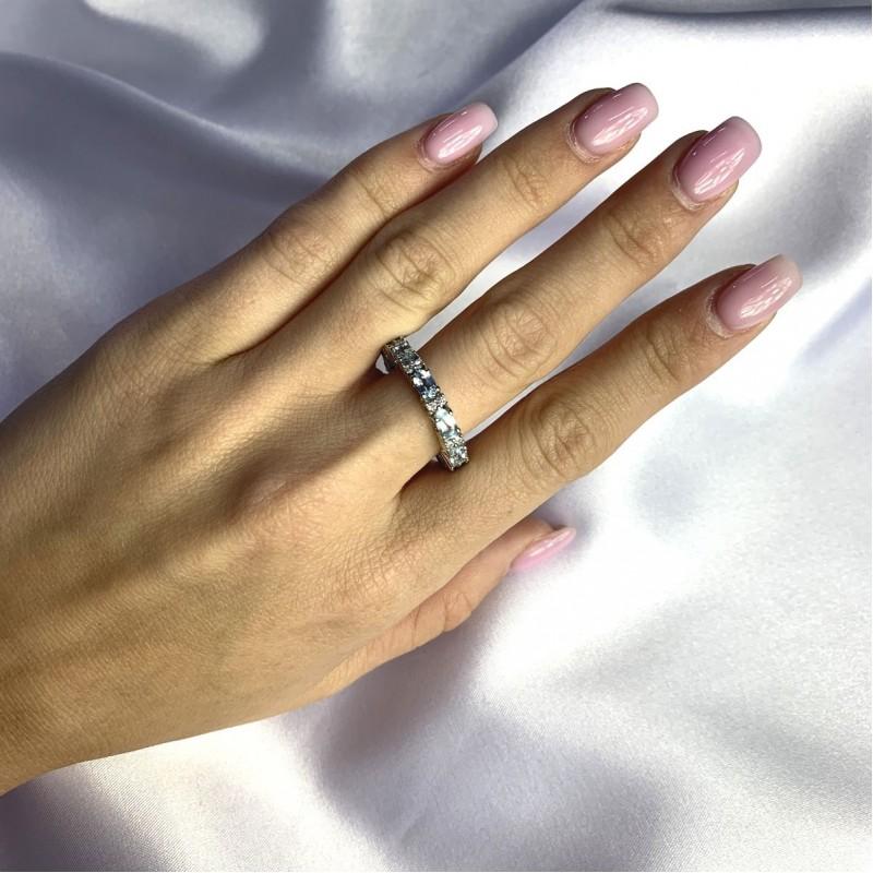 Серебряное кольцо SilverBreeze с натуральным топазом 3.66ct (2059011) 18 размер