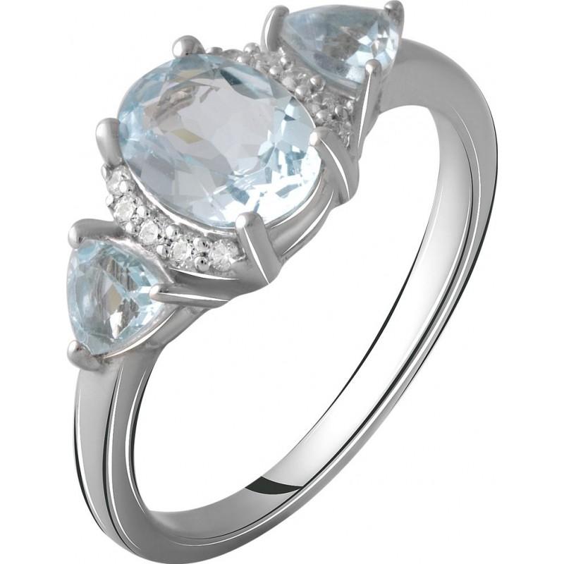 Серебряное кольцо SilverBreeze с натуральным топазом 1.884ct (2058991) 17.5 размер
