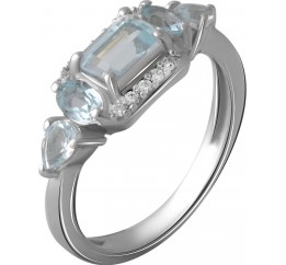 Серебряное кольцо SilverBreeze с натуральным топазом 1.68ct (2058977) 18 размер