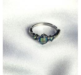 Серебряное кольцо SilverBreeze с натуральным мистик топазом 1.045ct (2058595) 17.5 размер