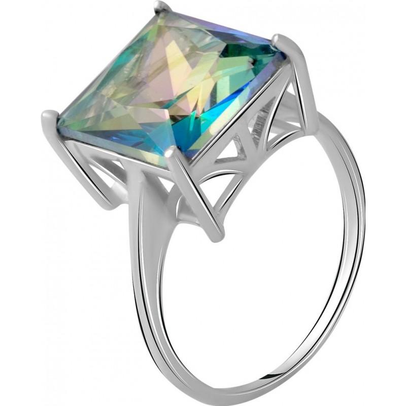 Серебряное кольцо SilverBreeze с натуральным мистик топазом 6.408ct (2058519) 18 размер