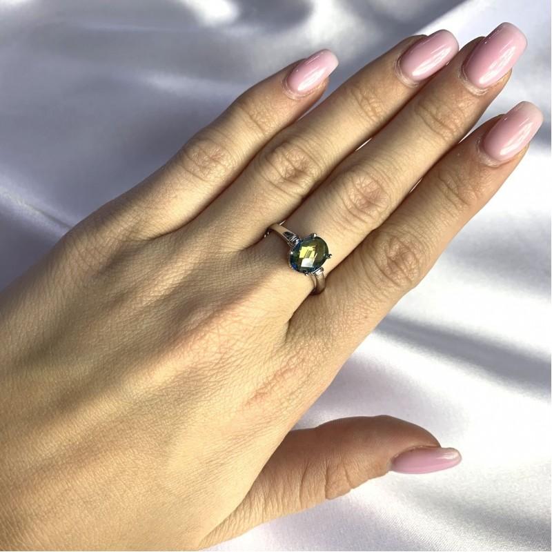 Серебряное кольцо SilverBreeze с натуральным мистик топазом 1.338ct (2058496) 17.5 размер