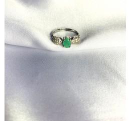 Серебряное кольцо SilverBreeze с натуральным изумрудом 1.315ct (2058335) 18 размер