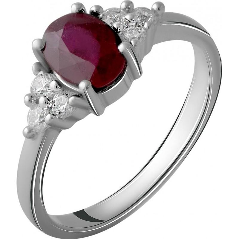 Серебряное кольцо SilverBreeze с натуральным рубином 1.327ct (2058045) 16 размер