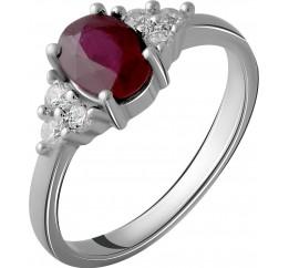 Серебряное кольцо SilverBreeze с натуральным рубином 1.327ct (2058045) 17 размер