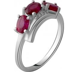 Серебряное кольцо SilverBreeze с натуральным рубином 2.144ct (2057987) 18 размер