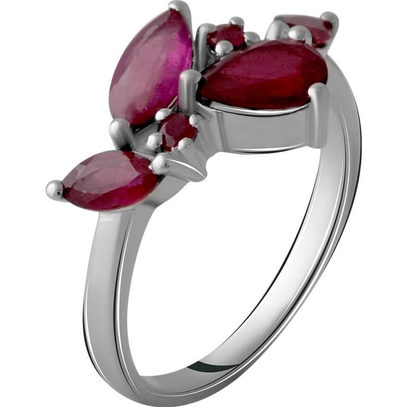 Серебряное кольцо SilverBreeze с натуральным рубином 3.018ct (2057949) 17 размер
