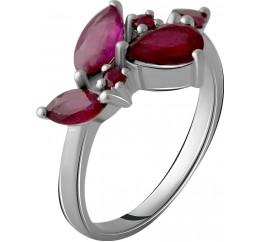 Серебряное кольцо SilverBreeze с натуральным рубином 3.018ct (2057949) 18.5 размер