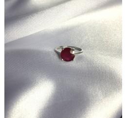 Серебряное кольцо SilverBreeze с натуральным рубином 3.95ct (2057888) 17 размер