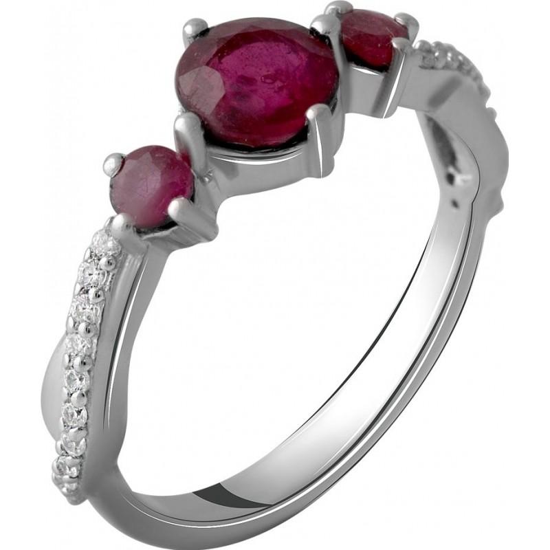 Серебряное кольцо SilverBreeze с натуральным рубином 1.97ct (2057864) 17.5 размер