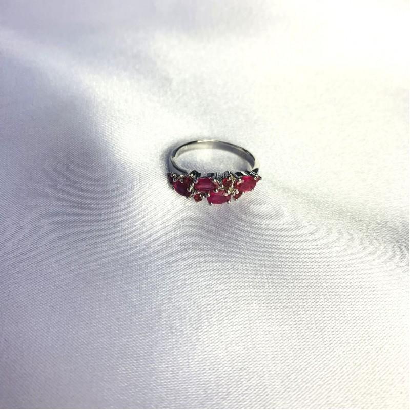 Серебряное кольцо SilverBreeze с натуральным рубином 1.4ct (2057833) 17.5 размер