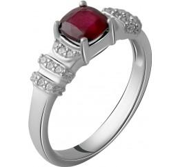 Серебряное кольцо SilverBreeze с натуральным рубином 1.692ct (2057796) 18 размер