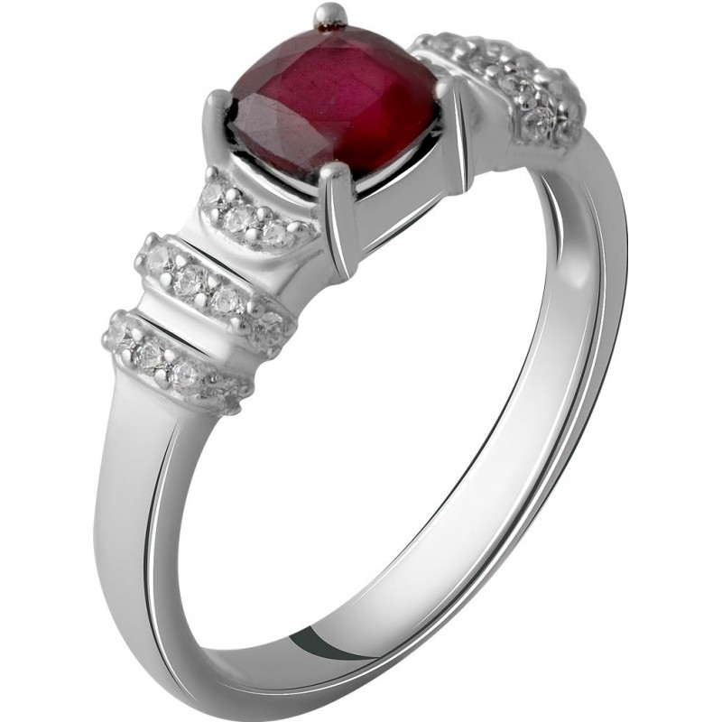 Серебряное кольцо SilverBreeze с натуральным рубином 1.692ct (2057796) 19 размер