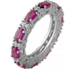 Серебряное кольцо SilverBreeze с натуральным рубином 3.879ct (2057772) 17 размер