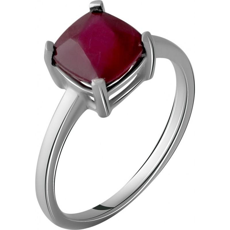 Серебряное кольцо SilverBreeze с натуральным рубином 2.775ct (2057734) 17.5 размер