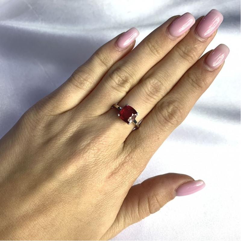Серебряное кольцо SilverBreeze с натуральным рубином 2.775ct (2057734) 18.5 размер