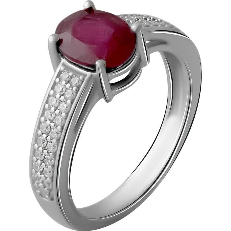 Серебряное кольцо SilverBreeze с натуральным рубином 2.068ct (2057673) 16.5 размер