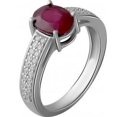 Серебряное кольцо SilverBreeze с натуральным рубином 2.068ct (2057673) 17.5 размер