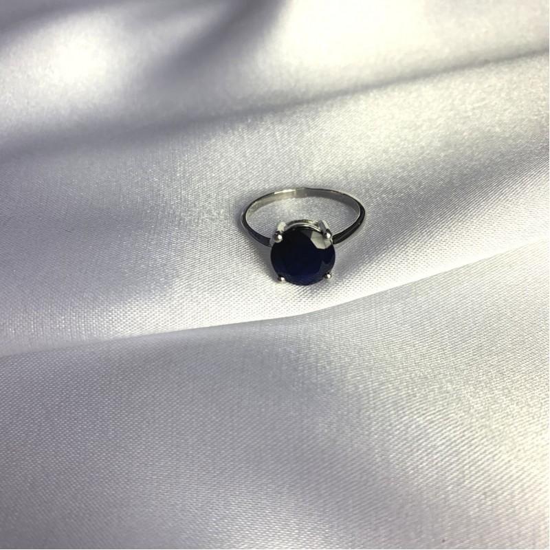 Серебряное кольцо SilverBreeze с натуральным сапфиром 3.138ct (2057642) 17 размер