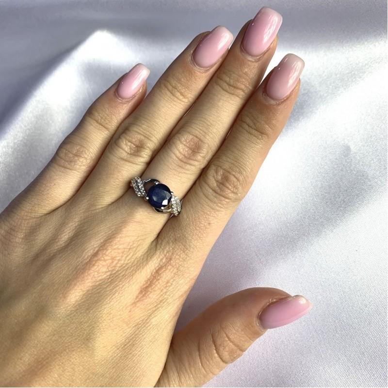 Серебряное кольцо SilverBreeze с натуральным сапфиром 2.421ct (2057628) 17.5 размер