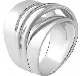 Серебряное кольцо SilverBreeze без камней (2056669) 18 размер