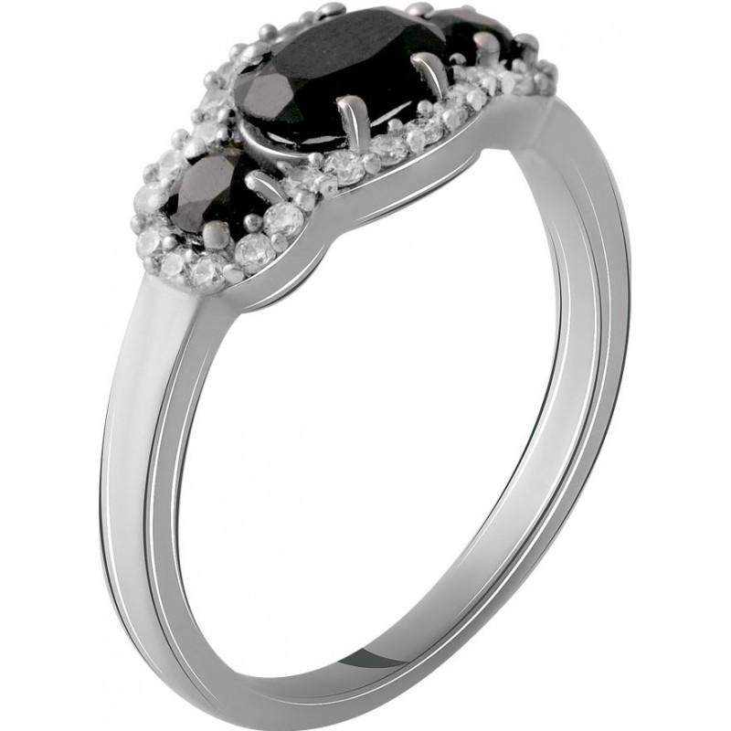 Серебряное кольцо SilverBreeze с натуральным сапфиром (2056072) 17.5 размер