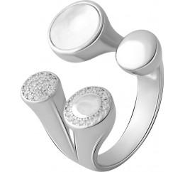 Серебряное кольцо SilverBreeze с натуральным перламутром (2055754) 16.5 размер