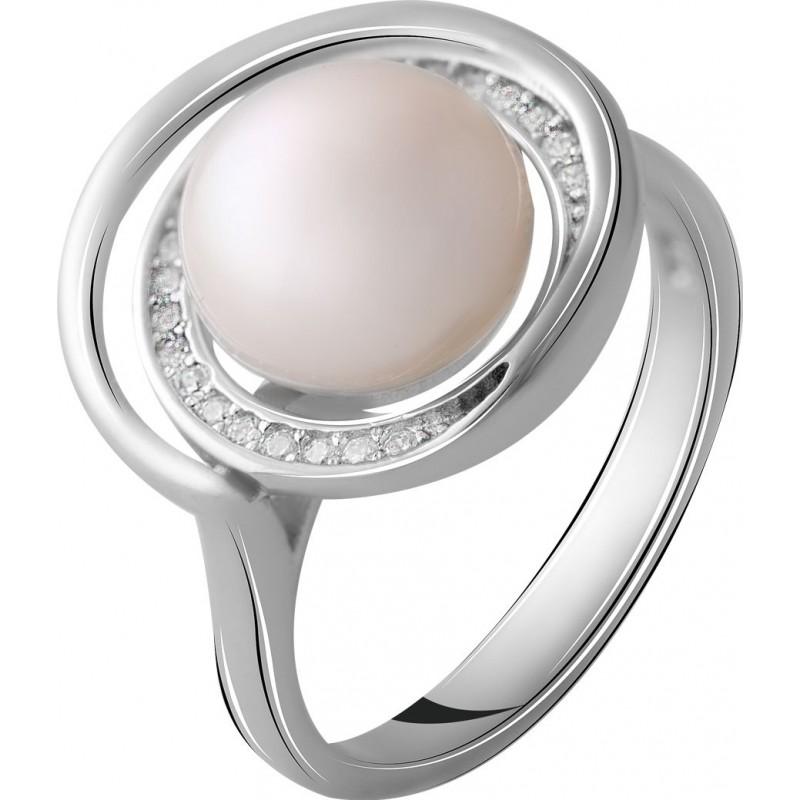 Серебряное кольцо SilverBreeze с натуральным жемчугом (2055433) 16.5 размер