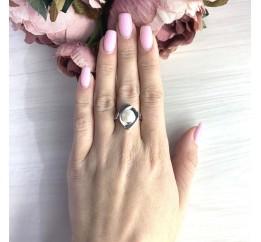 Серебряное кольцо SilverBreeze с натуральным жемчугом (2055402) 17 размер