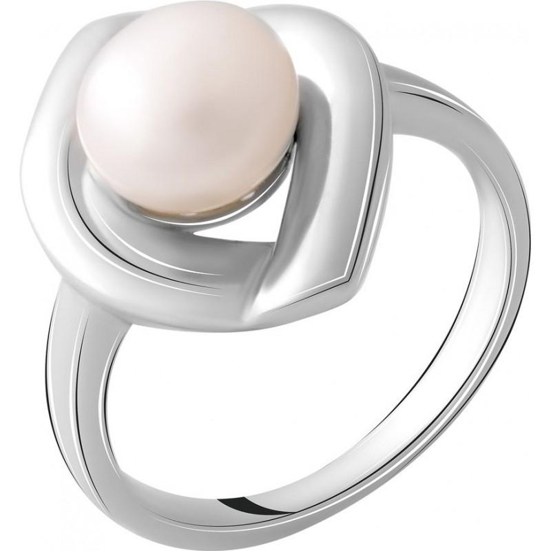 Серебряное кольцо SilverBreeze с натуральным жемчугом (2055402) 18.5 размер