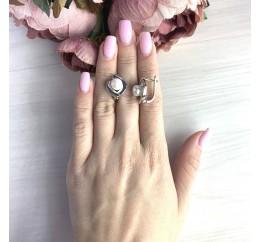 Серебряные серьги SilverBreeze с натуральным жемчугом (2055327)