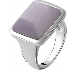 Серебряное кольцо SilverBreeze с кошачим глазом (2055020) 17.5 размер