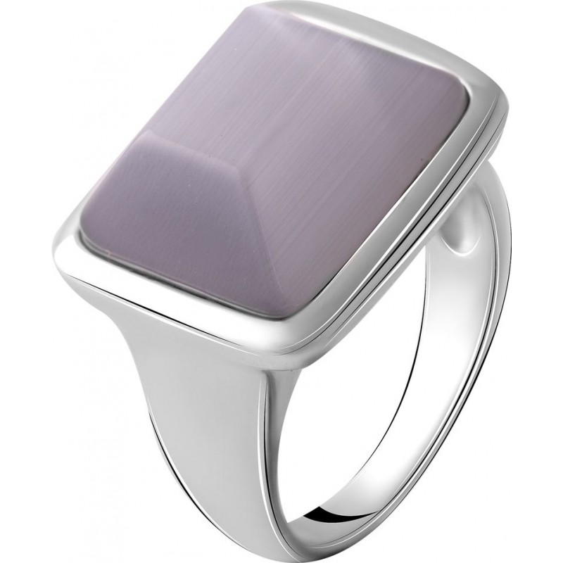 Серебряное кольцо SilverBreeze с кошачим глазом (2055020) 18 размер