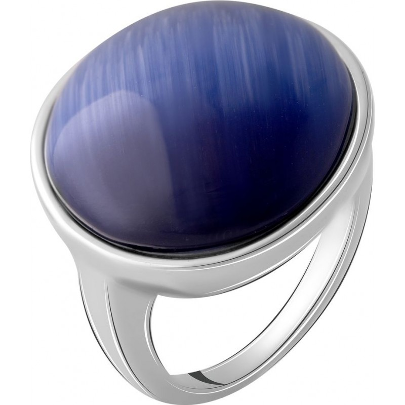 Серебряное кольцо SilverBreeze с кошачим глазом (2054993) 17 размер