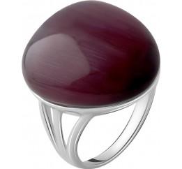 Серебряное кольцо SilverBreeze с кошачим глазом (2054962) 17.5 размер