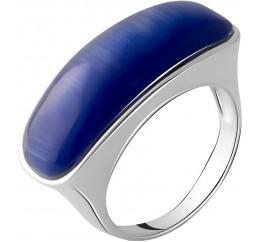 Серебряное кольцо SilverBreeze с кошачим глазом (2054948) 17 размер