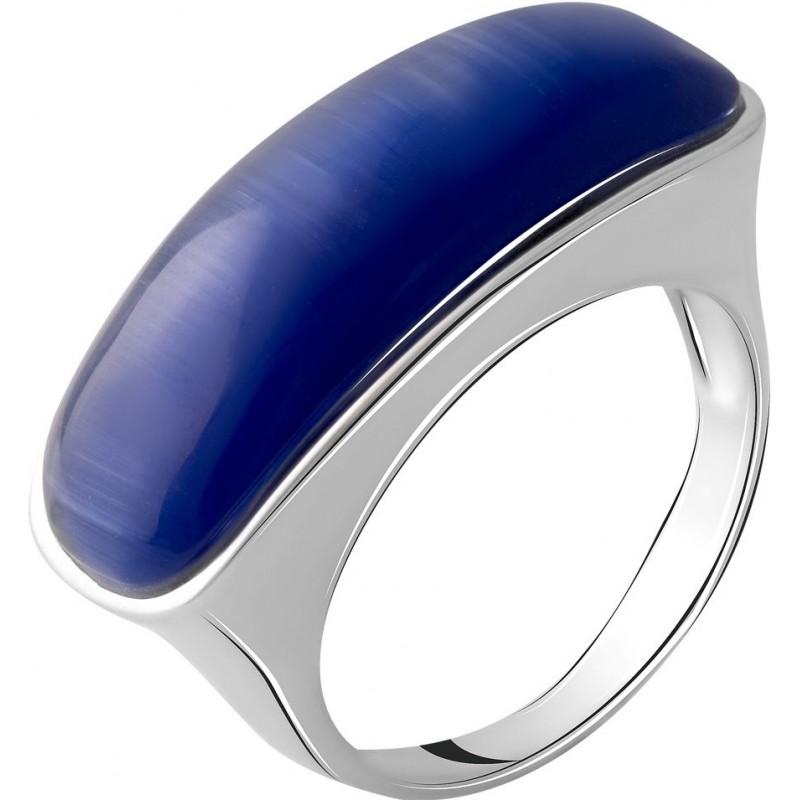 Серебряное кольцо SilverBreeze с кошачим глазом (2054948) 17.5 размер