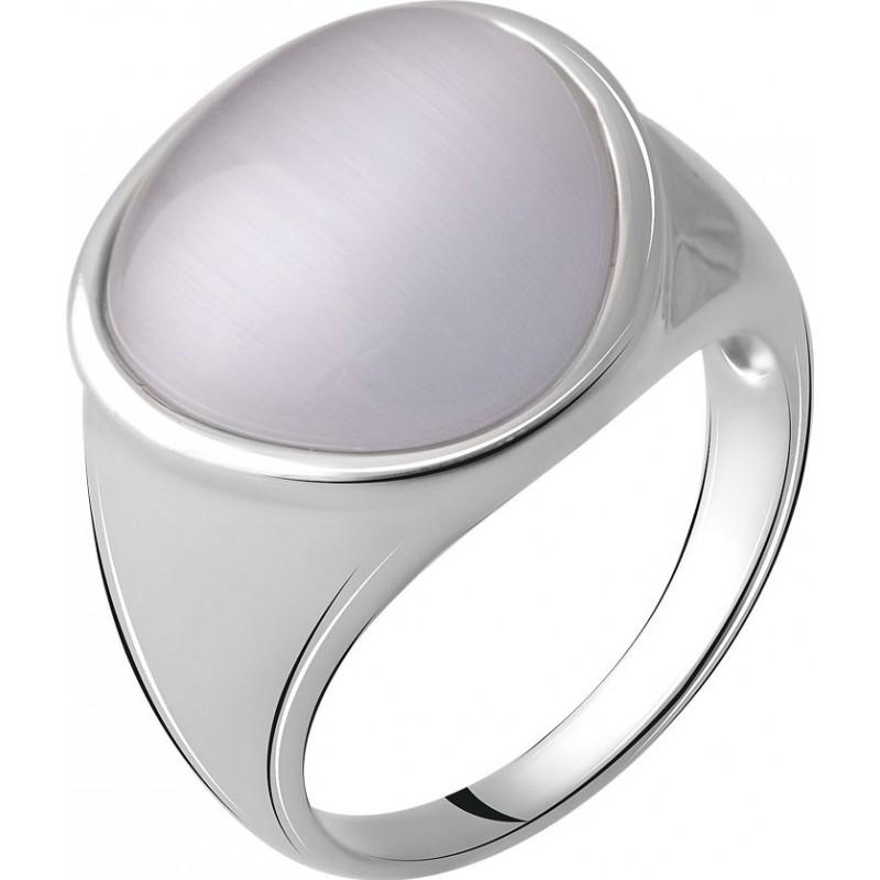 Серебряное кольцо SilverBreeze с кошачим глазом (2054900) 17 размер